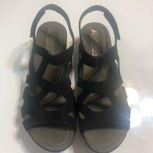 Mephisto black leather sandals sz 10 NWT
